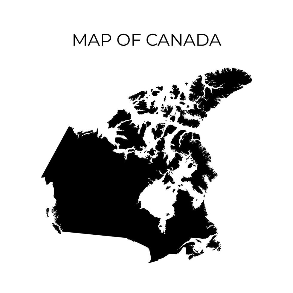 karta över Kanada, kanadensiska kartor vektor