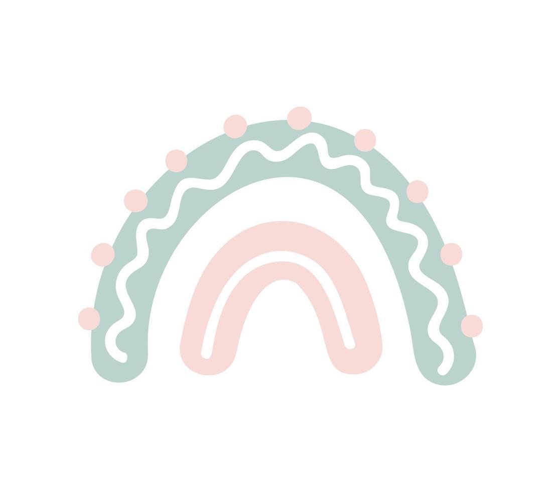 konst skandinavisk regnbågefärg penseldrag. baby design för födelsedag inbjudan eller baby shower, affisch, kläder, plantskola väggkonst och vykort vektor