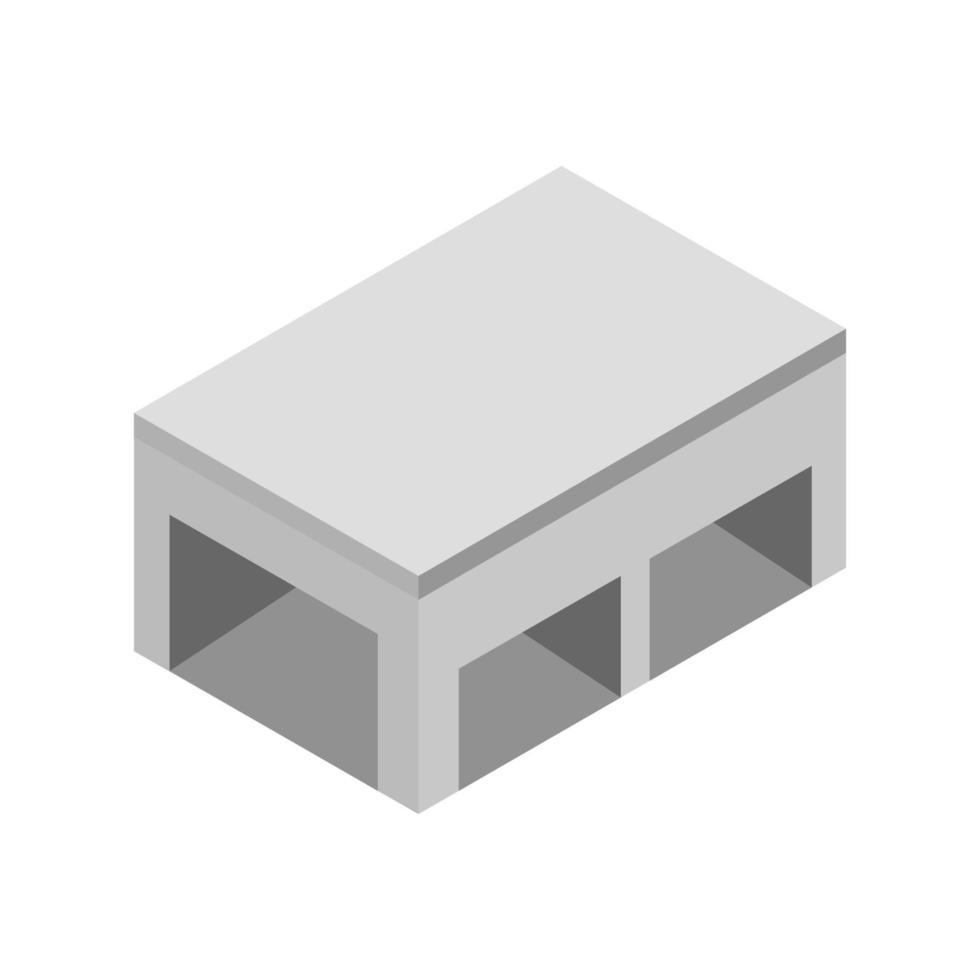 isometriskt lager på vit bakgrund vektor