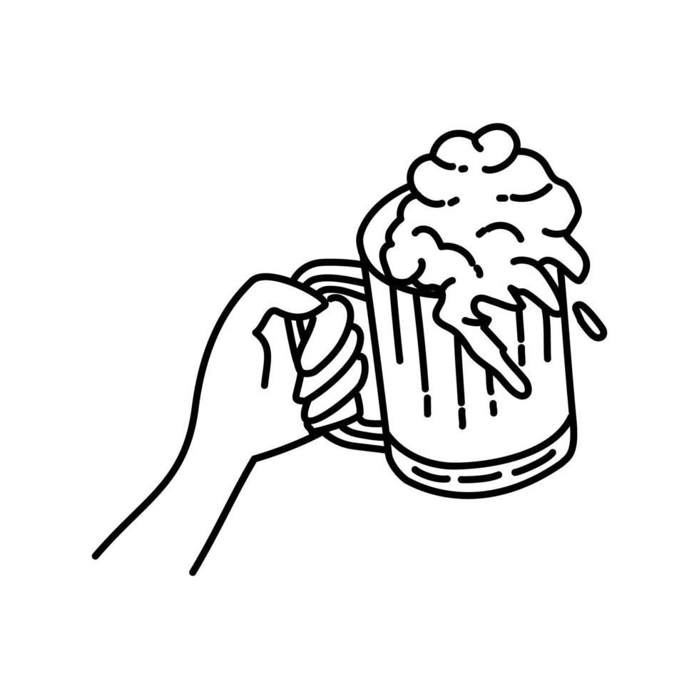 skål-ikon. doodle handritad eller dispositionsikon stil vektor