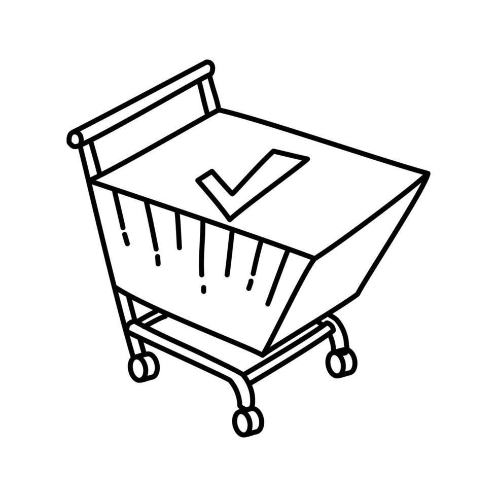 Checkout-Symbol. Gekritzel Hand gezeichnet oder Umriss Symbol Stil vektor