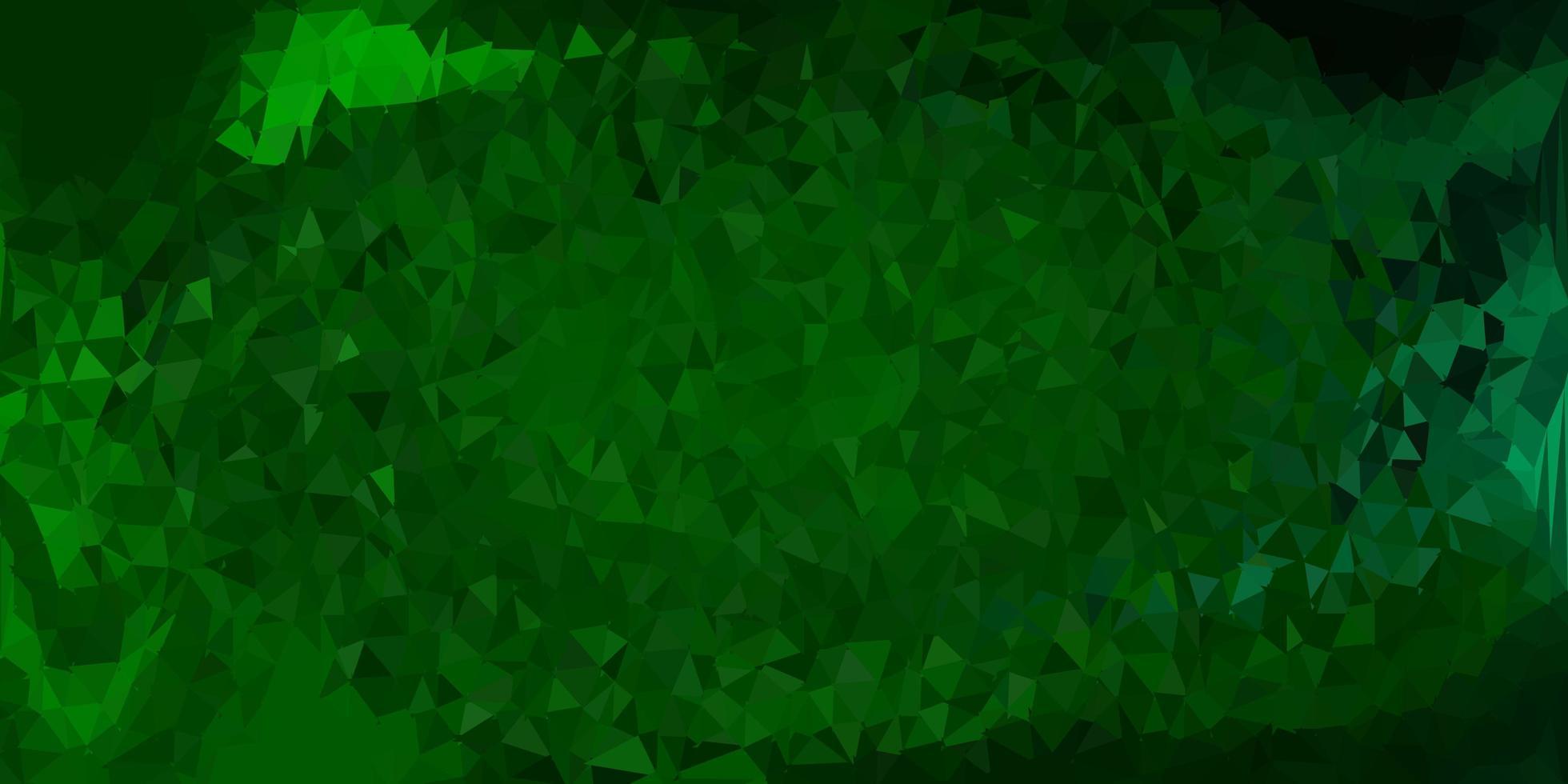 dunkelgrüne Vektor-Gradienten-Polygon-Textur. vektor