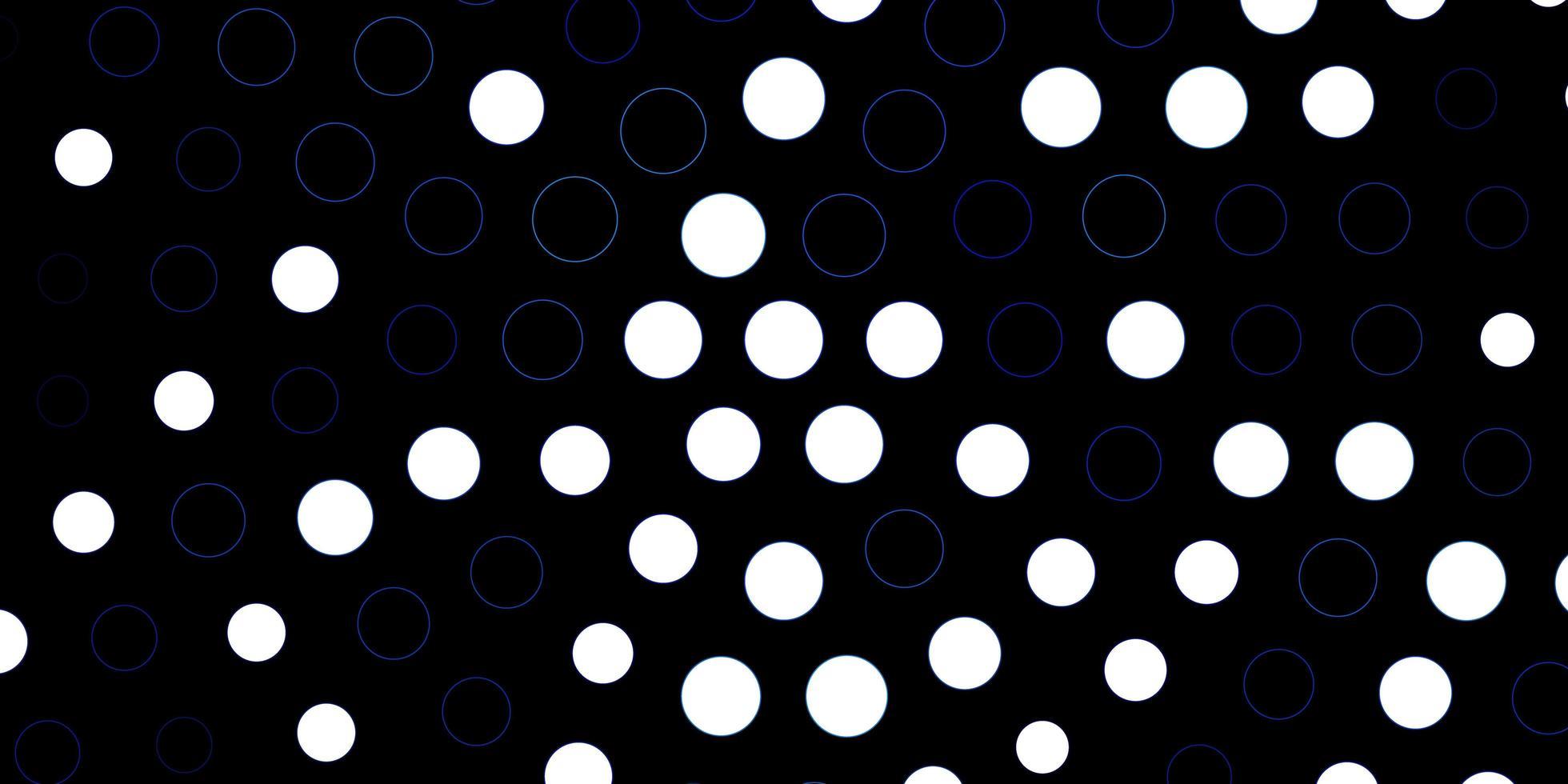 dunkelrosa, blaue Vektorschablone mit Kreisen. vektor