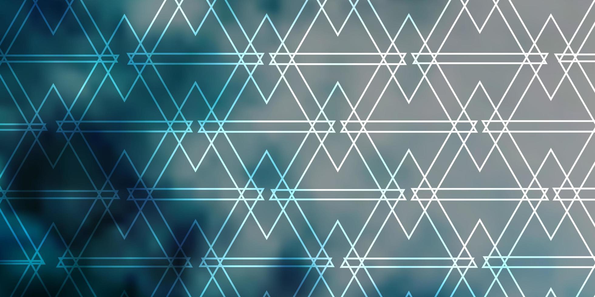 hellblaue Vektorschablone mit Linien, Dreiecken. vektor