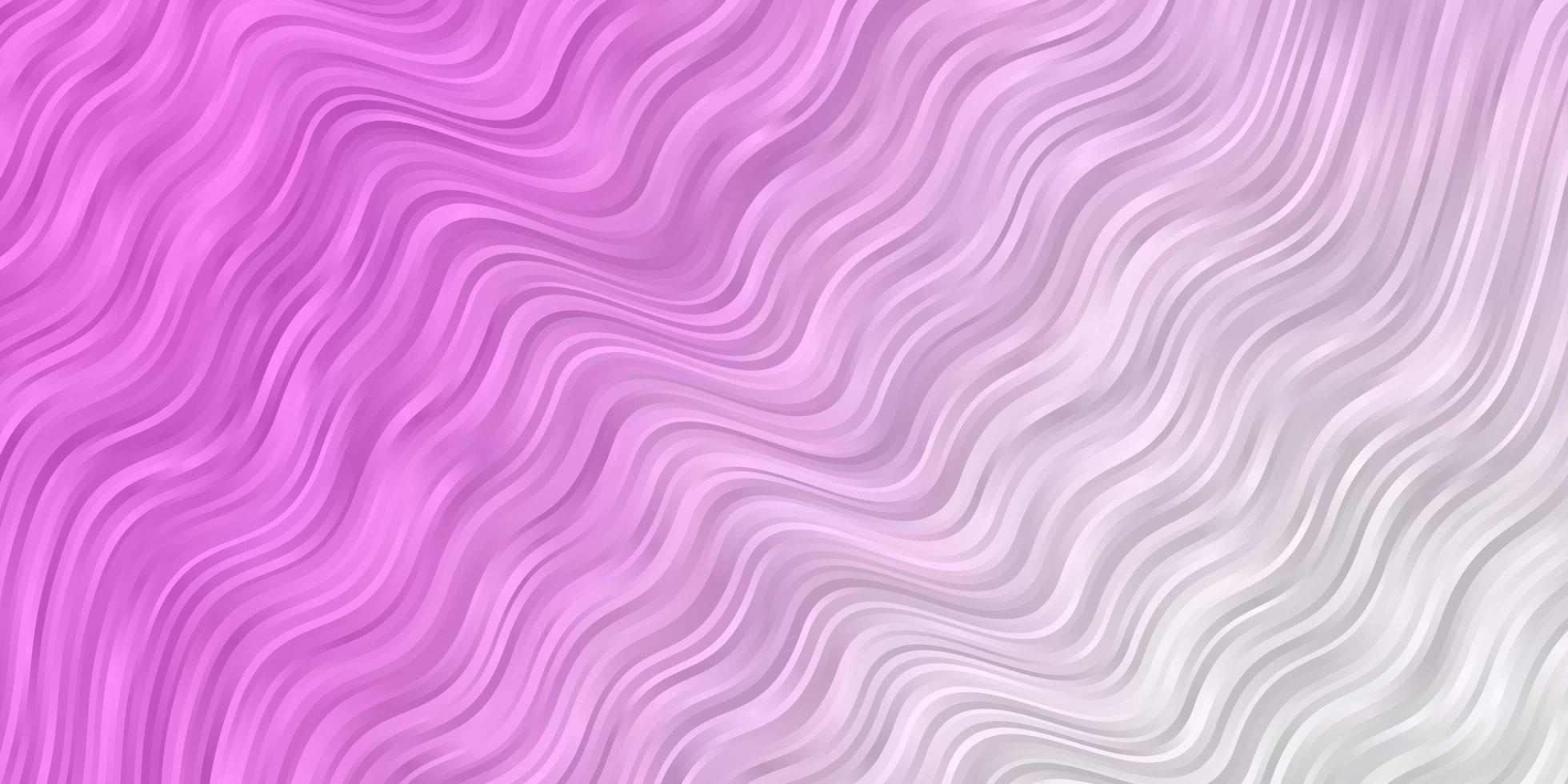 hellrosa Vektormuster mit gekrümmten Linien. vektor