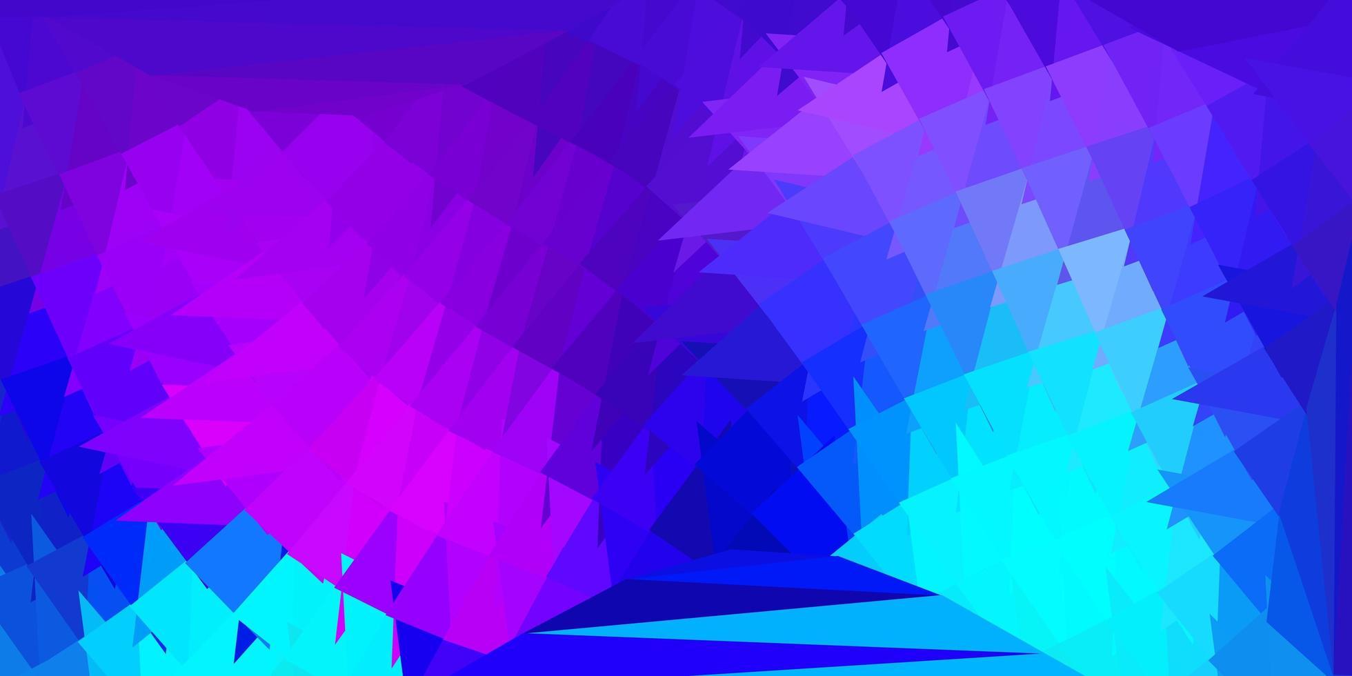 dunkelrosa, blaues Vektorgradienten-Polygon-Design. vektor