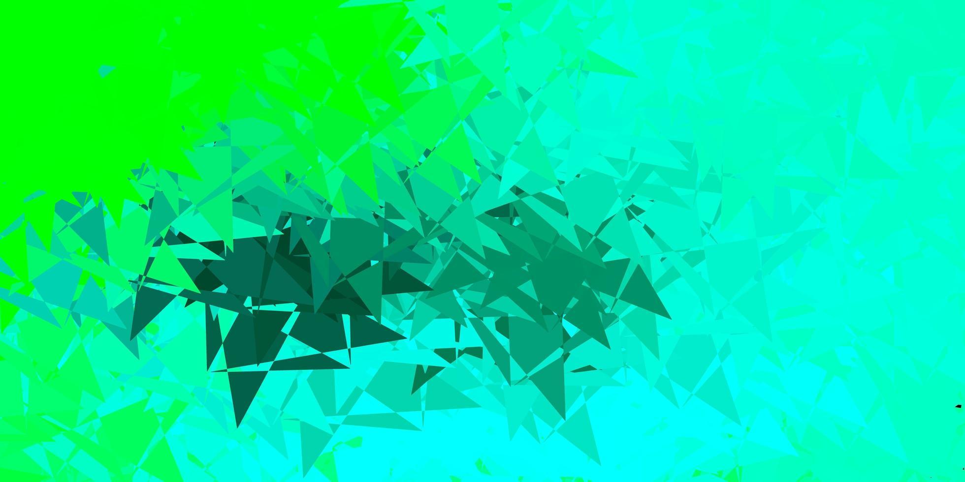 hellgrünes Vektormuster mit polygonalen Formen. vektor