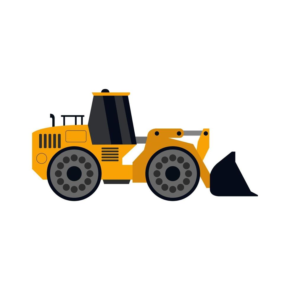 Bagger auf weißem Hintergrund dargestellt vektor