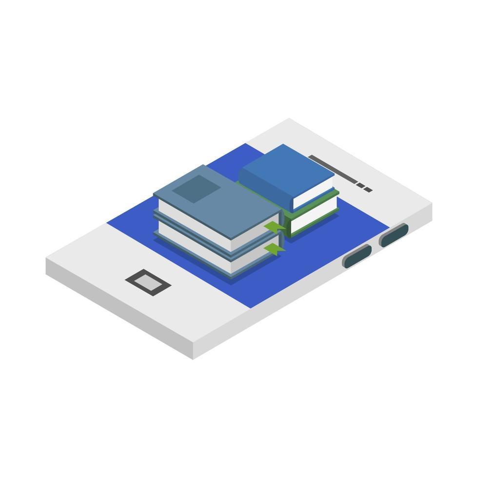 Online-Isometrie auf weißem Hintergrund studieren vektor