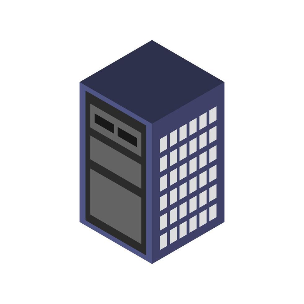 isometrischer Server auf weißem Hintergrund dargestellt vektor