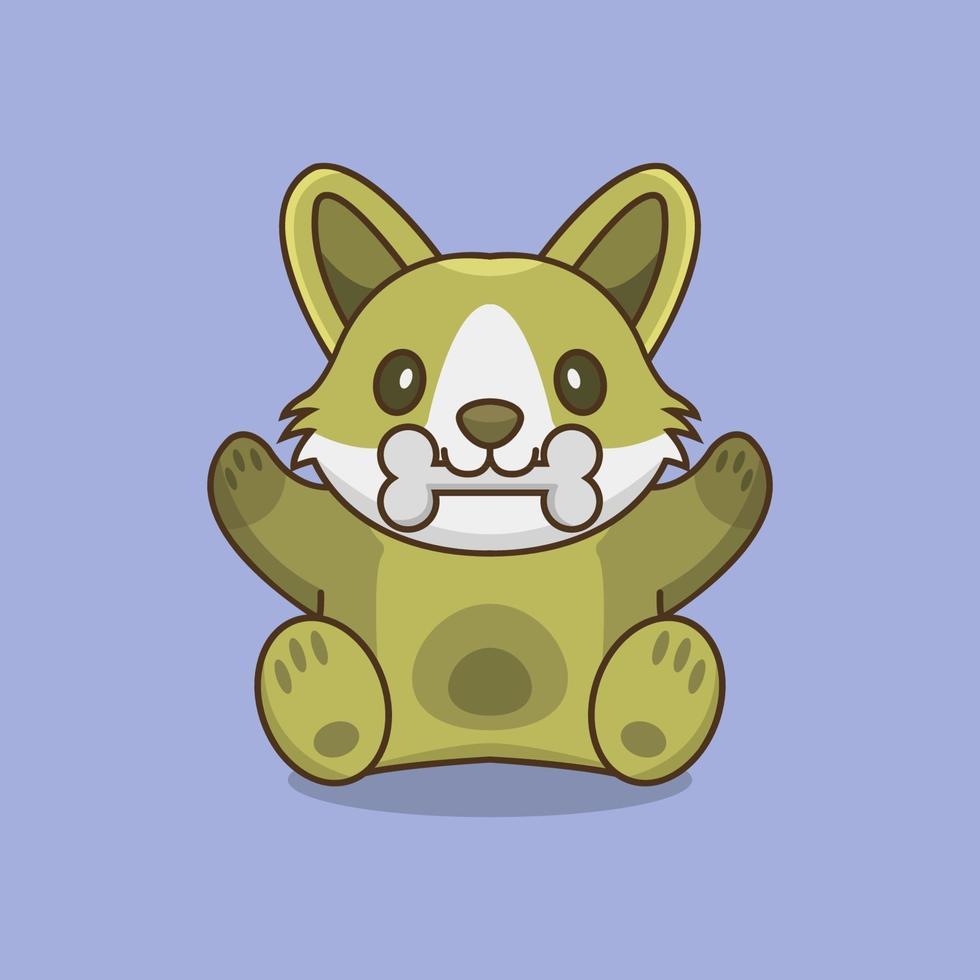 Hund illustriert auf buntem Hintergrund vektor