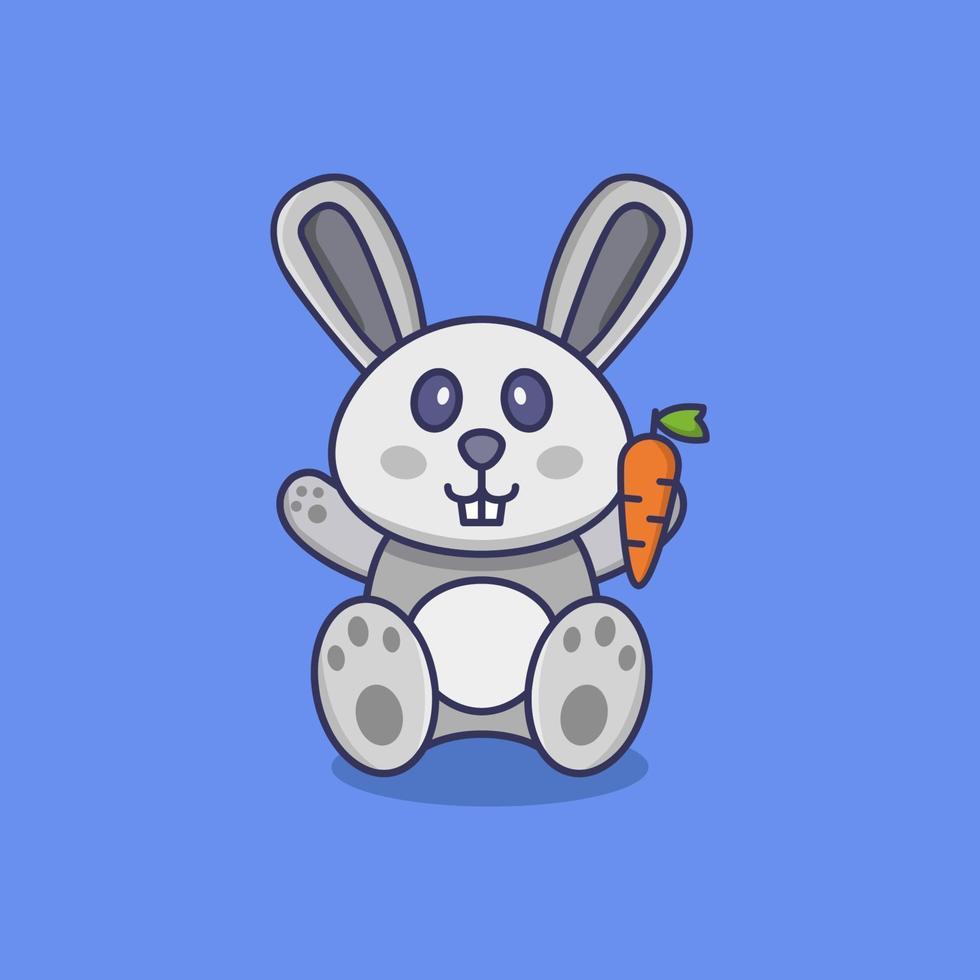 Kaninchen auf Hintergrund dargestellt vektor