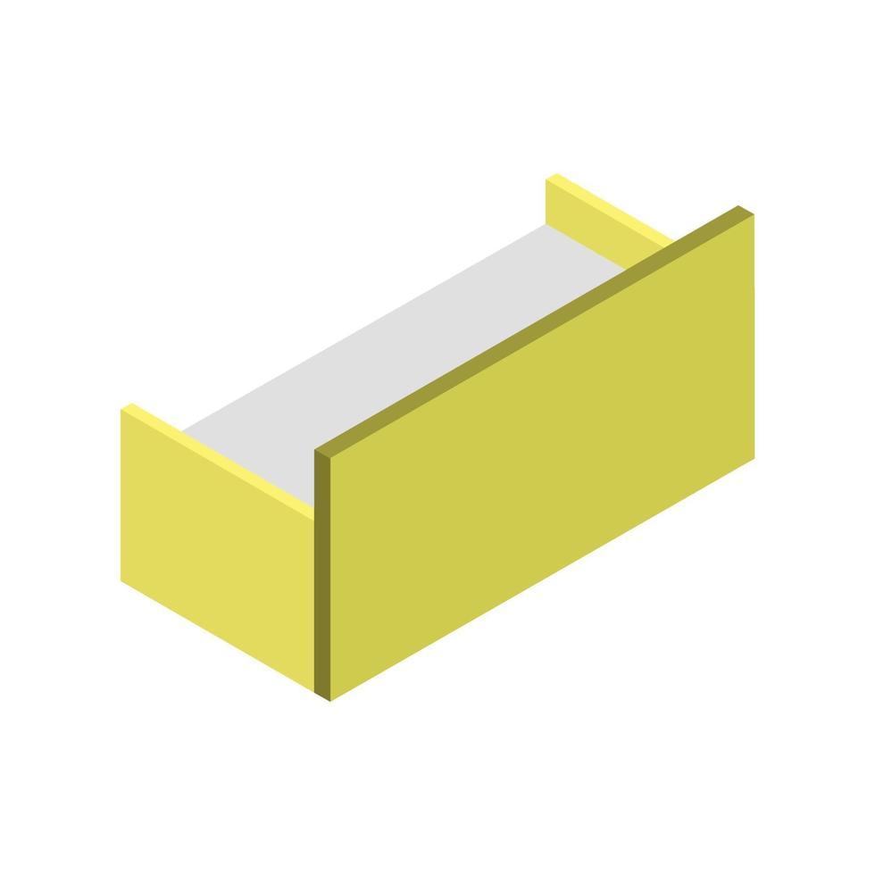 isometrisches Sofa auf weißem Hintergrund dargestellt vektor