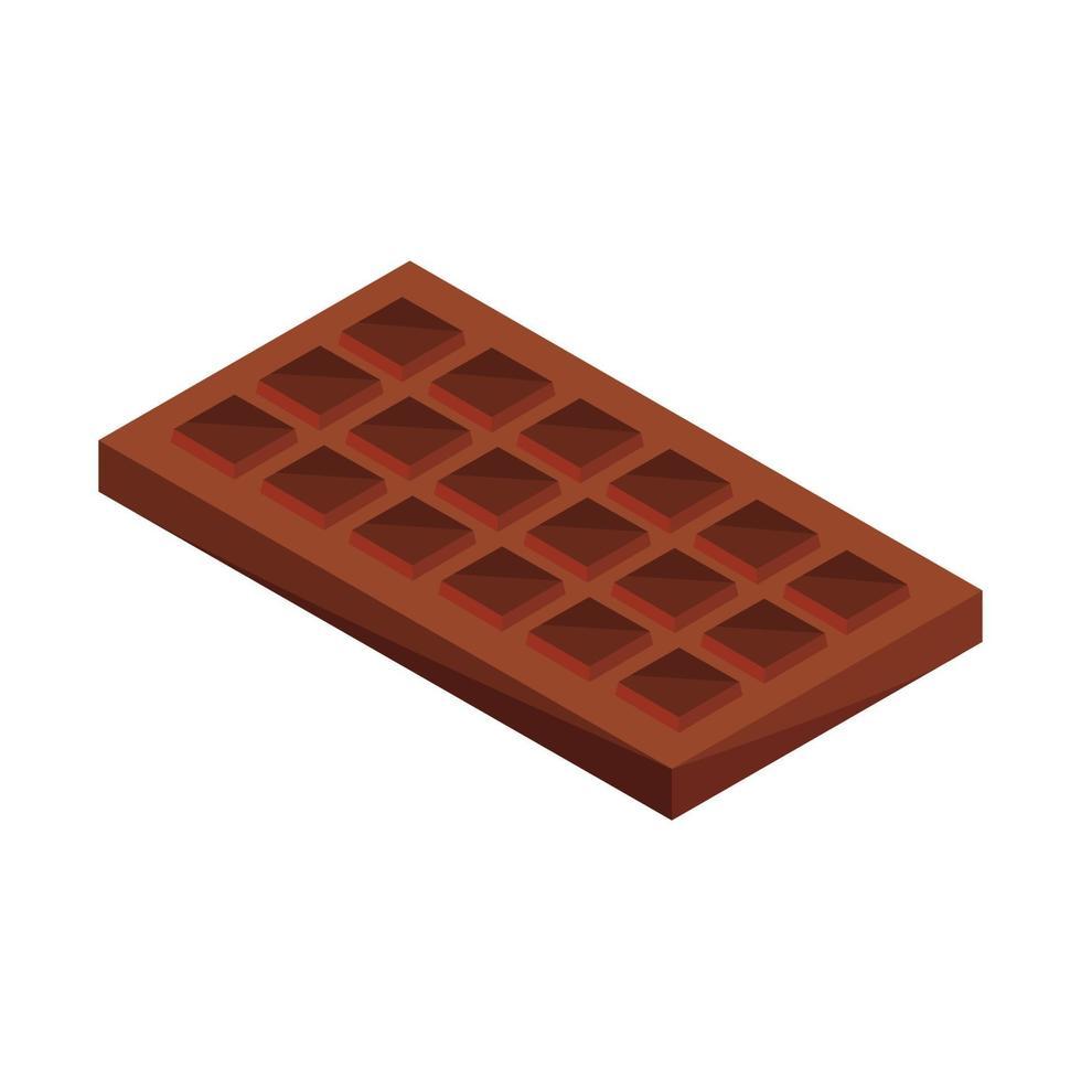 isometrische Schokolade auf weißem Hintergrund vektor