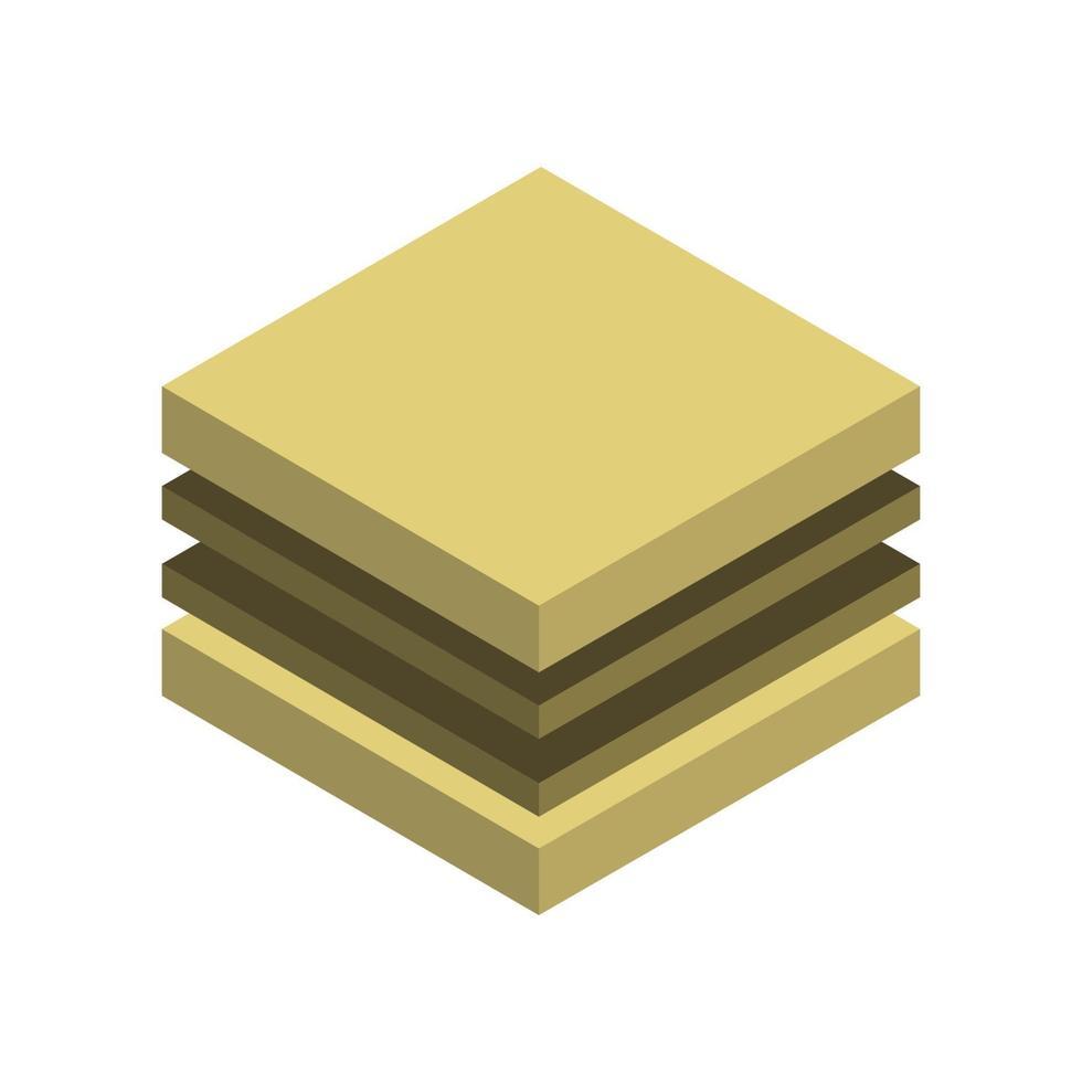 isometrisches Sandwich auf weißem Hintergrund vektor