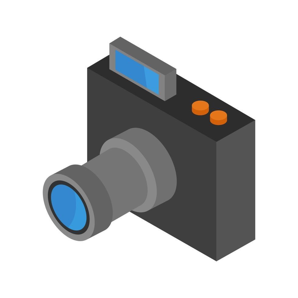 isometrische Kamera auf weißem Hintergrund dargestellt vektor