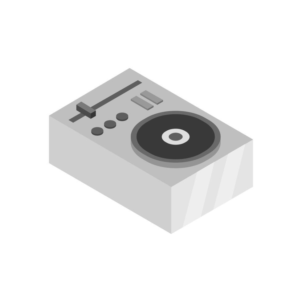isometrischer DJ-Mischer auf weißem Hintergrund dargestellt vektor