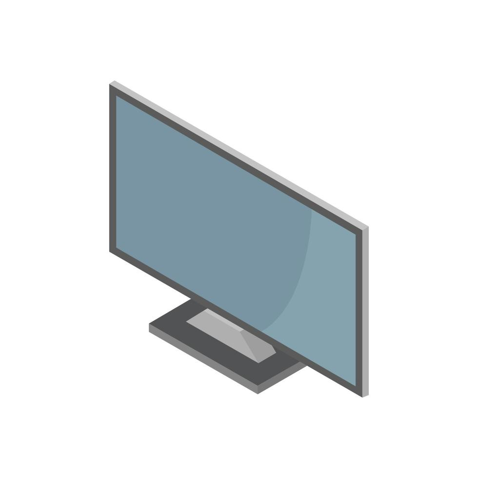 isometrischer Computer auf weißem Hintergrund dargestellt vektor