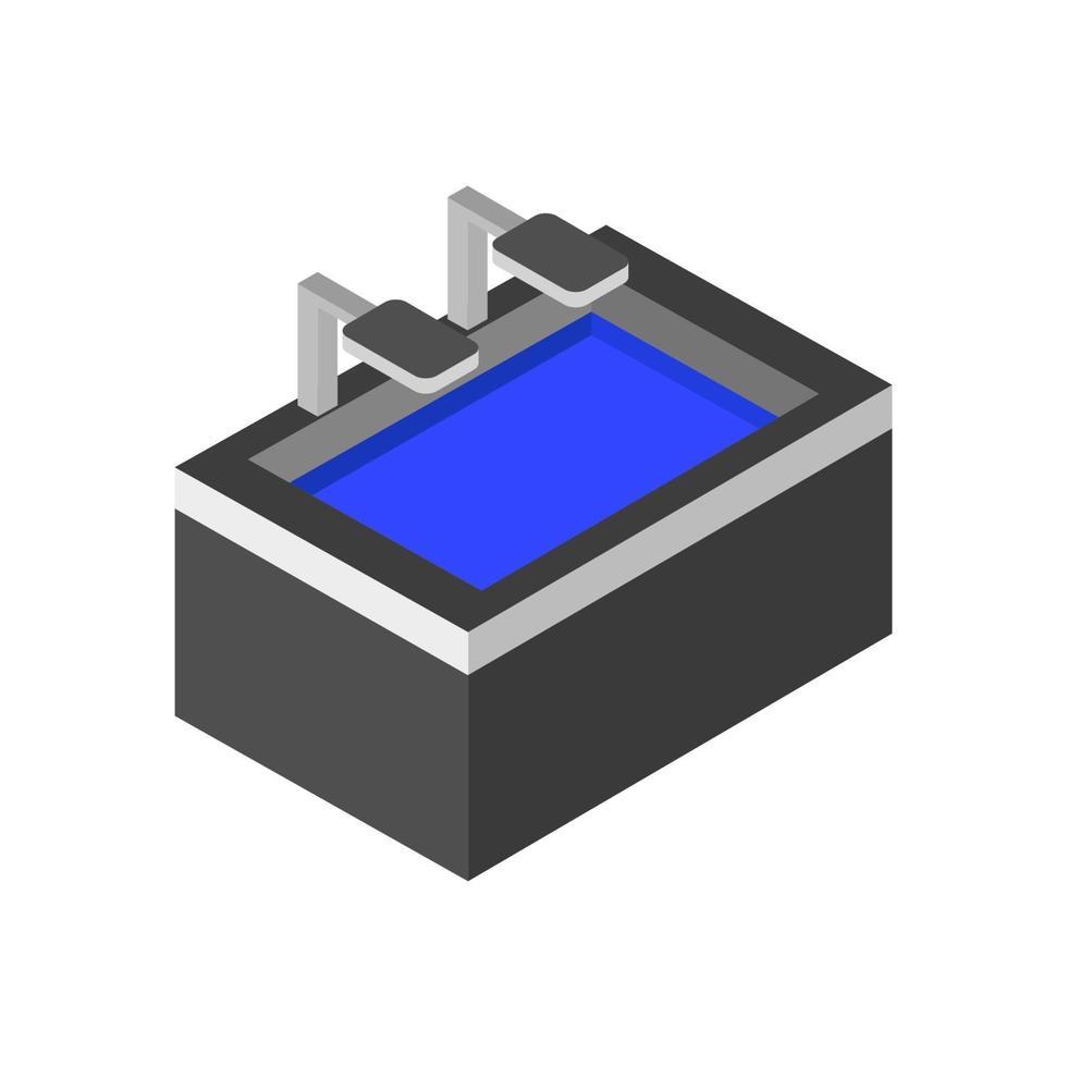 isometrische Spüle auf weißem Hintergrund vektor