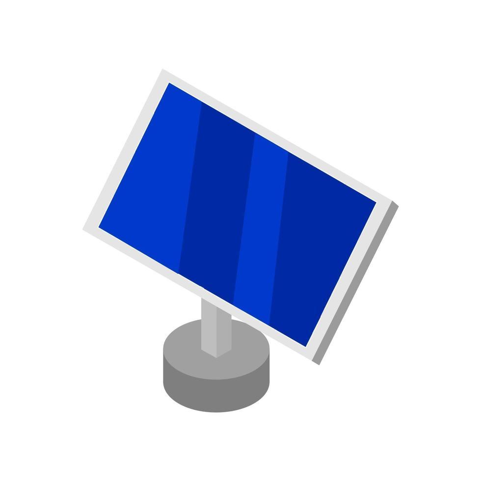 isometrisk solpanel på vit bakgrund vektor