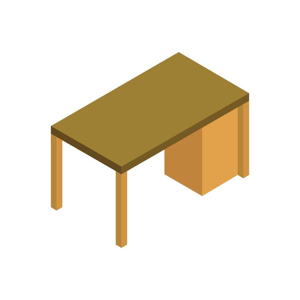 isometrisk skolbord på vit bakgrund vektor