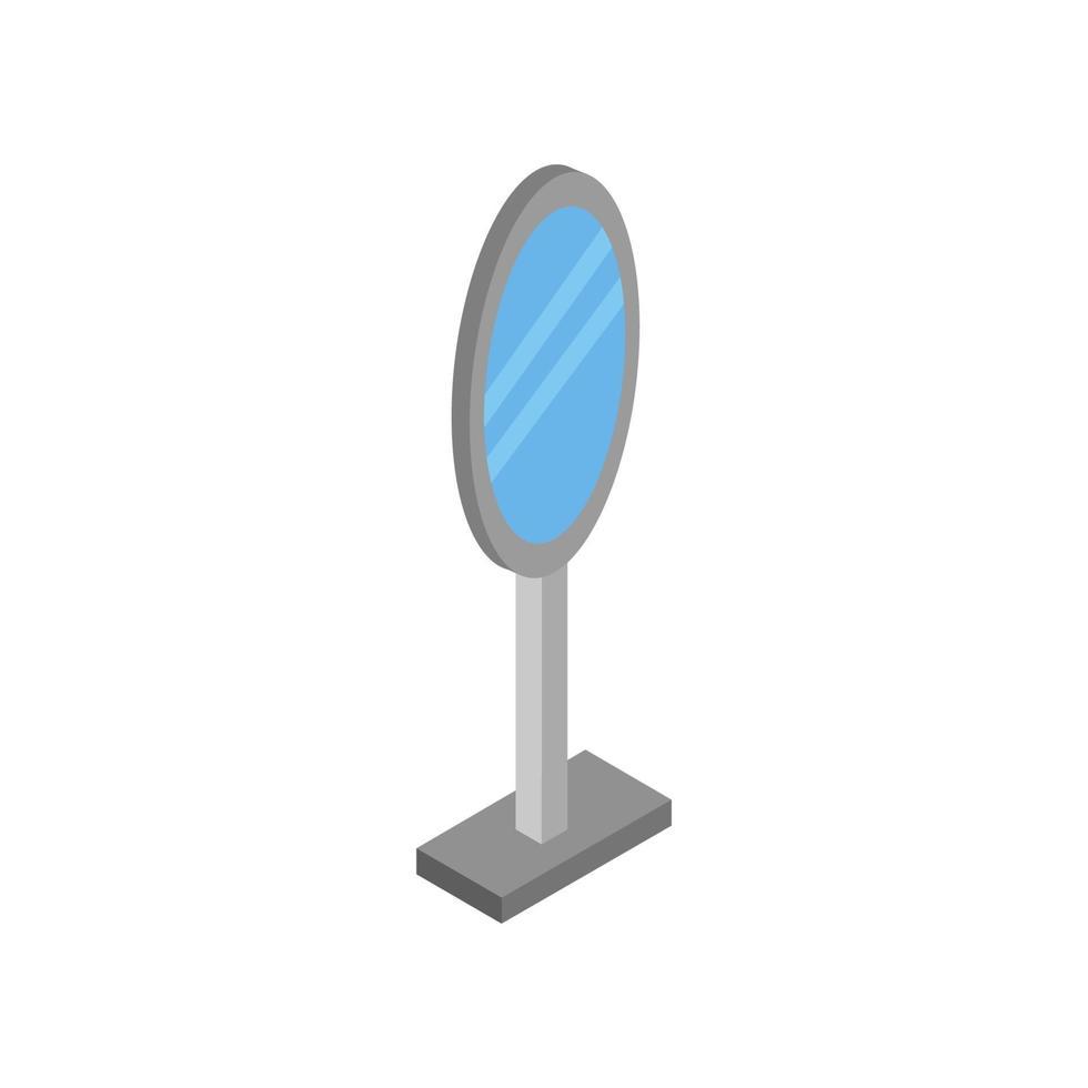 isometrischer Spiegel auf weißem Hintergrund dargestellt vektor