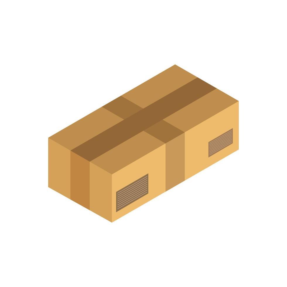 isometrische Box auf weißem Hintergrund vektor