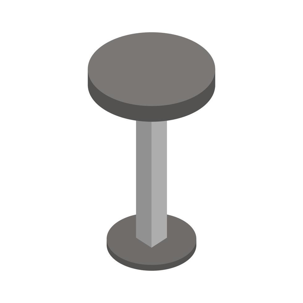 isometrischer Hocker auf weißem Hintergrund dargestellt vektor