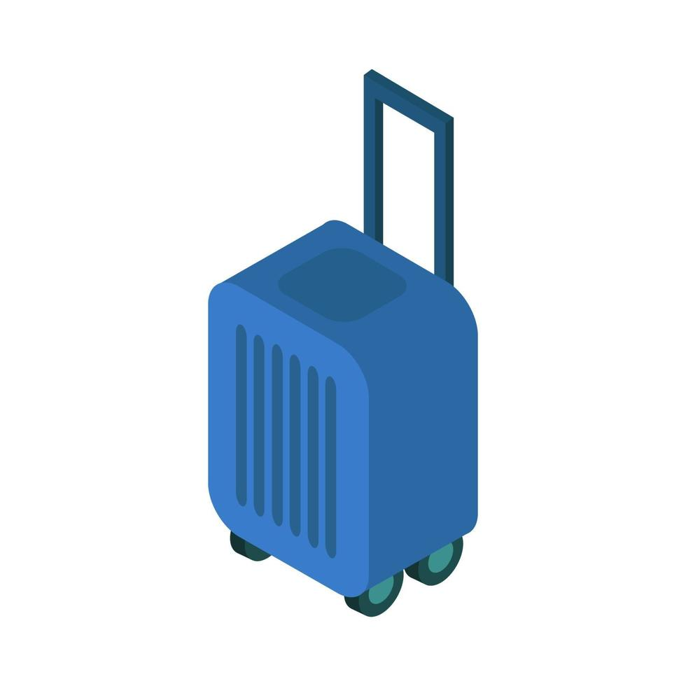 isometrisk resväska på vit bakgrund vektor