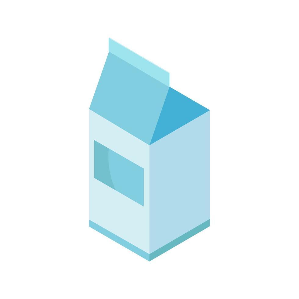 isometrisk mjölk på vit bakgrund vektor