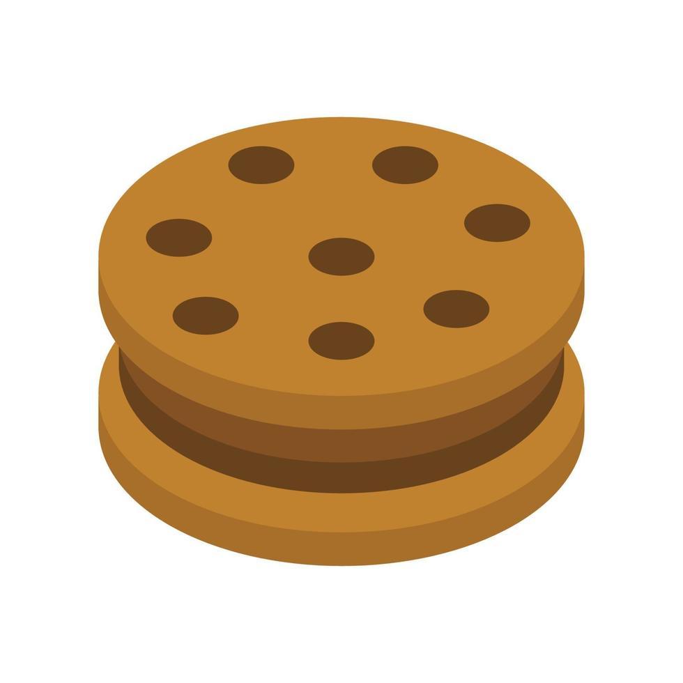 isometrischer Keks auf weißem Hintergrund vektor