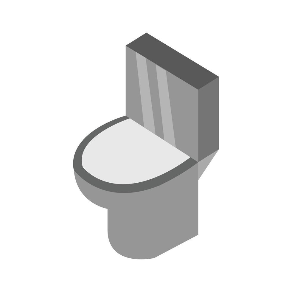 isometrisk toalett på vit bakgrund vektor