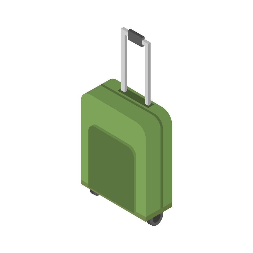 isometrischer Reisekoffer auf weißem Hintergrund vektor