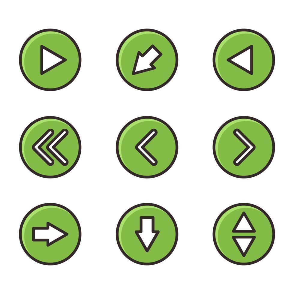pilar ikonuppsättning vektor