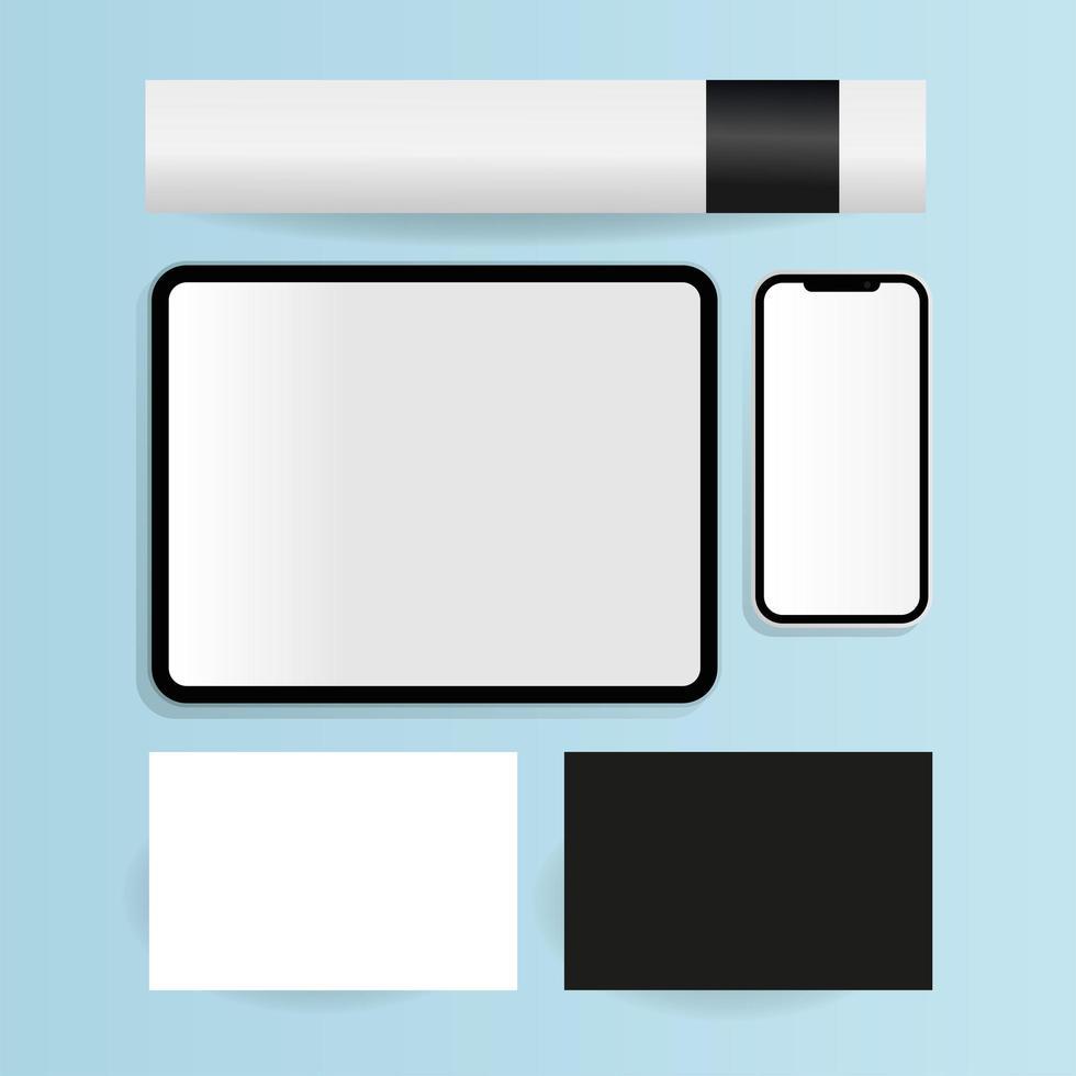 moderna mallar för pappersvaror och prylar vektor