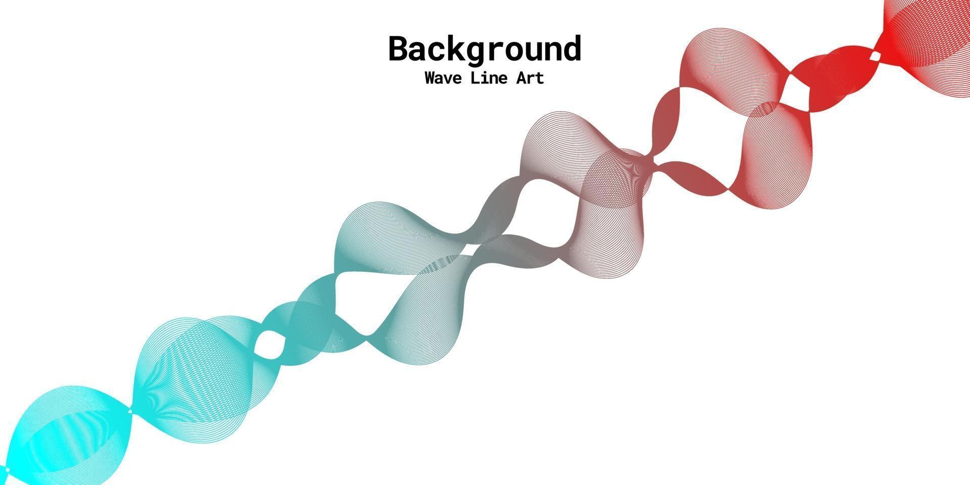 modern abstrakt bakgrund med vågiga linjer i röda och blåa graderingar vektor