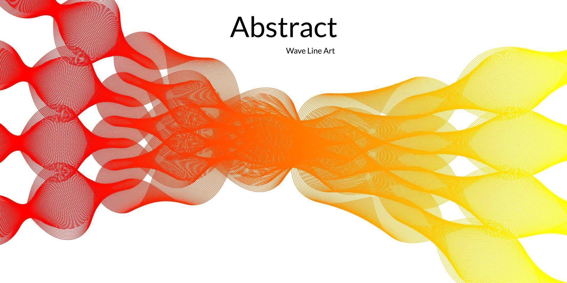 modern abstrakt bakgrund med vågiga linjer i röda och gula graderingar vektor