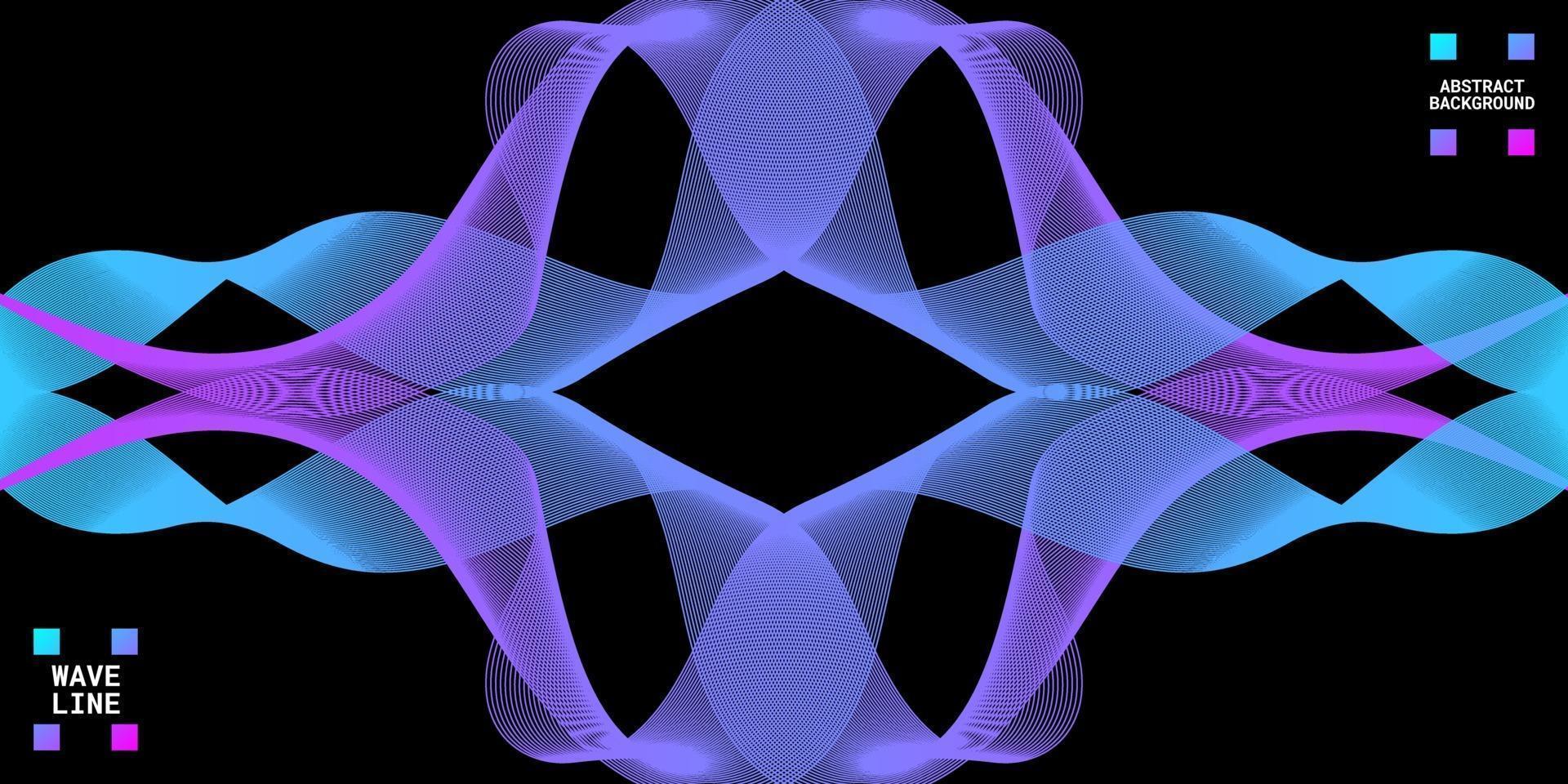 modern abstrakt bakgrund med vågiga linjer färgglada. vektor