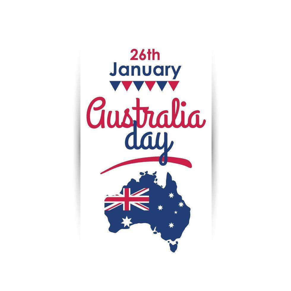 glad australiens dagdesign vektor