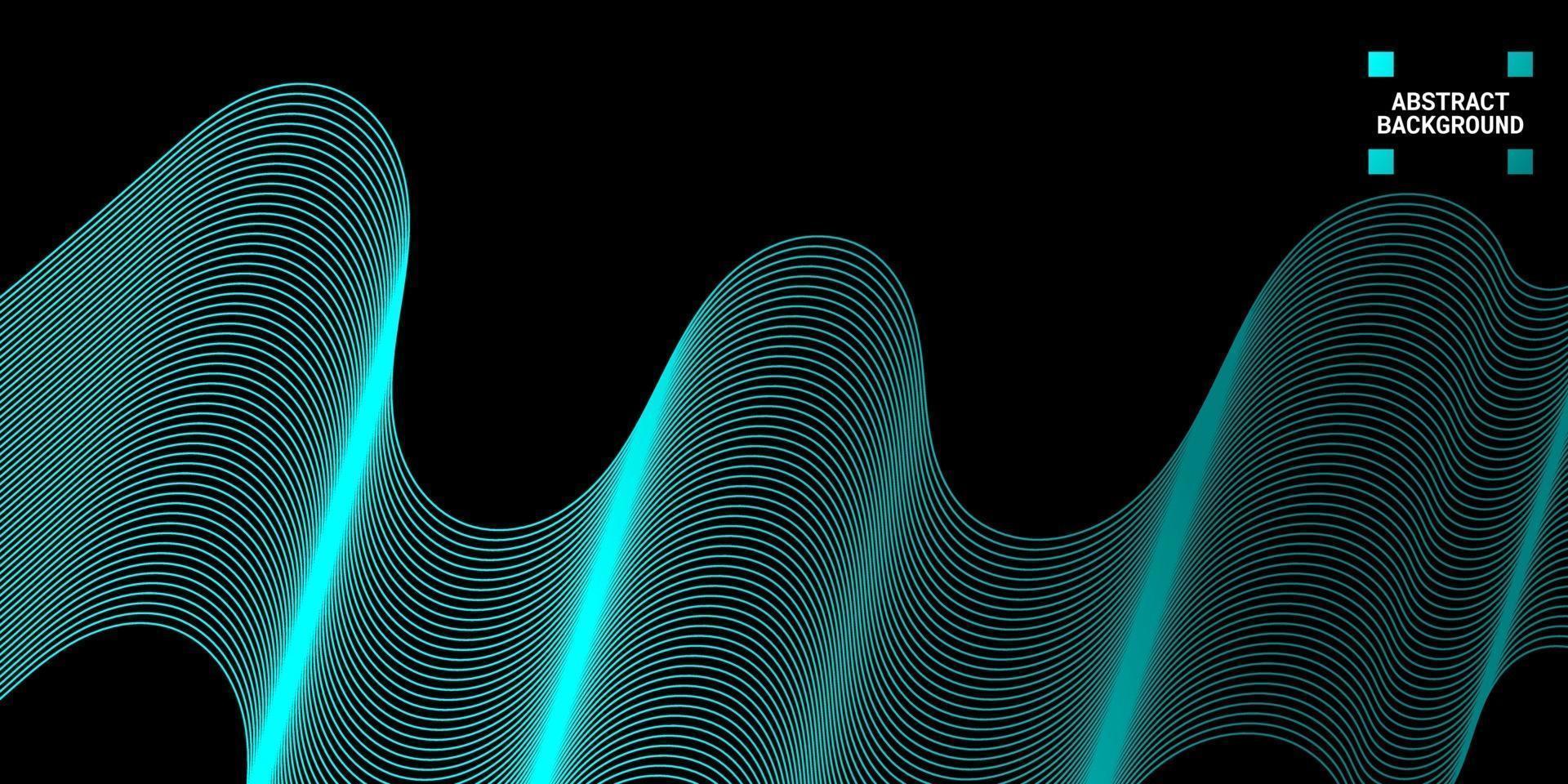moderner abstrakter Hintergrund mit Wellenlinien in hellblauen Abstufungen vektor
