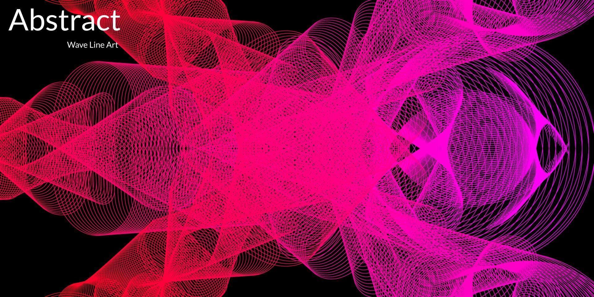 moderner abstrakter Hintergrund mit Wellenlinien in lila und roten Abstufungen. Wellenlinienkunst, gebogenes glattes Design. Vektorillustration vektor