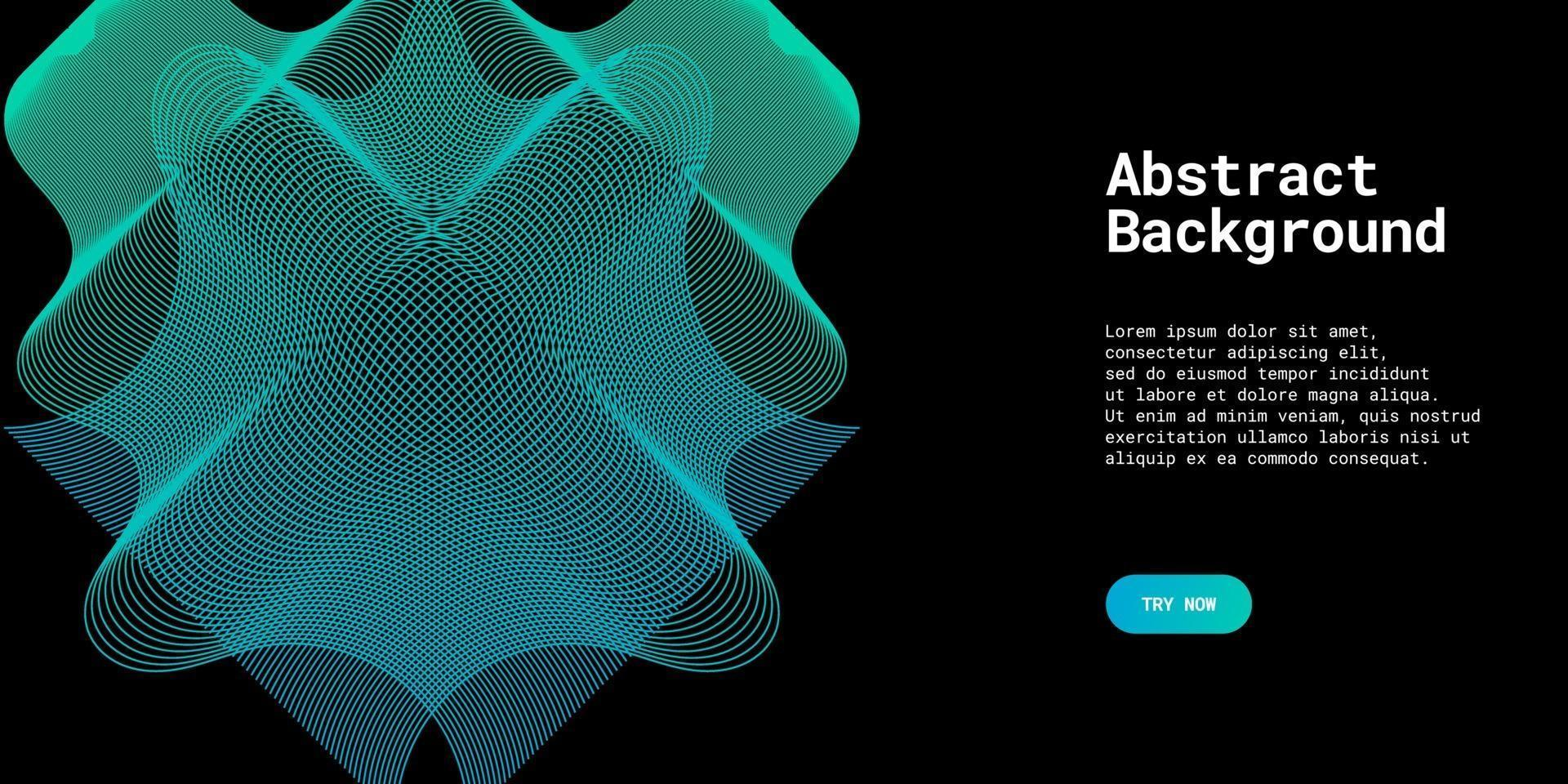modern abstrakt bakgrund med vågiga linjer i ljusblå graderingar vektor
