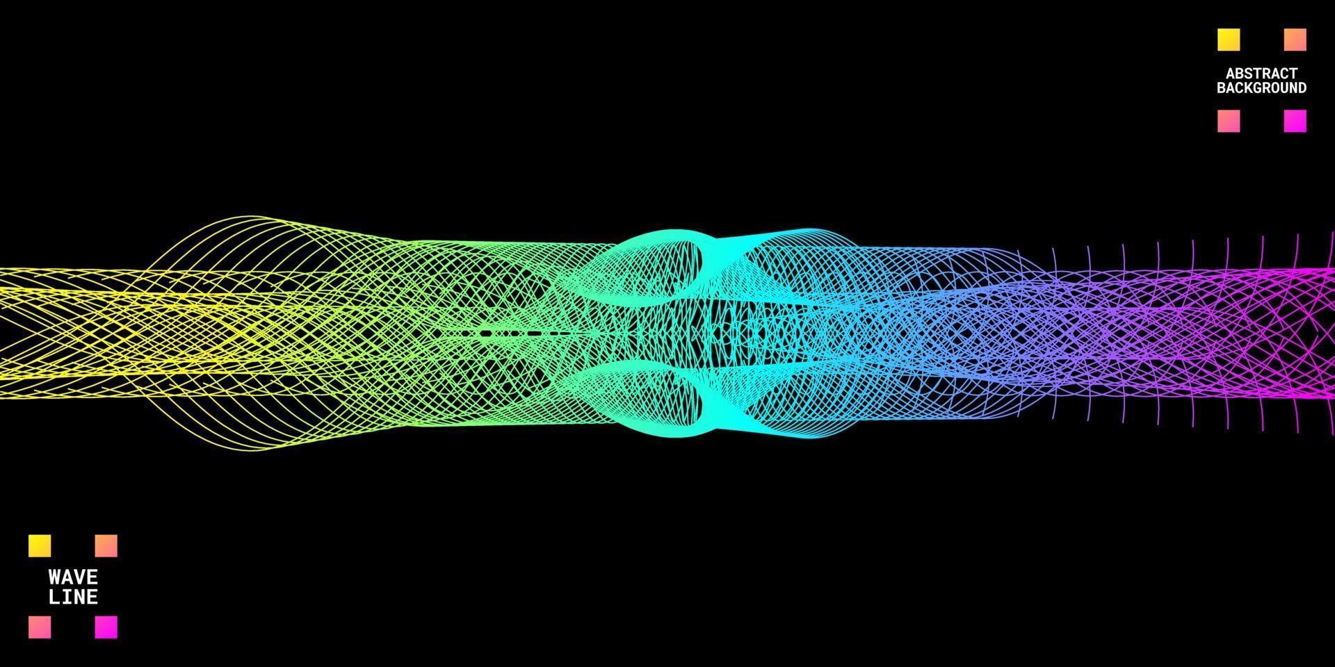 modern abstrakt bakgrund med vågiga linjer färgglada vektor