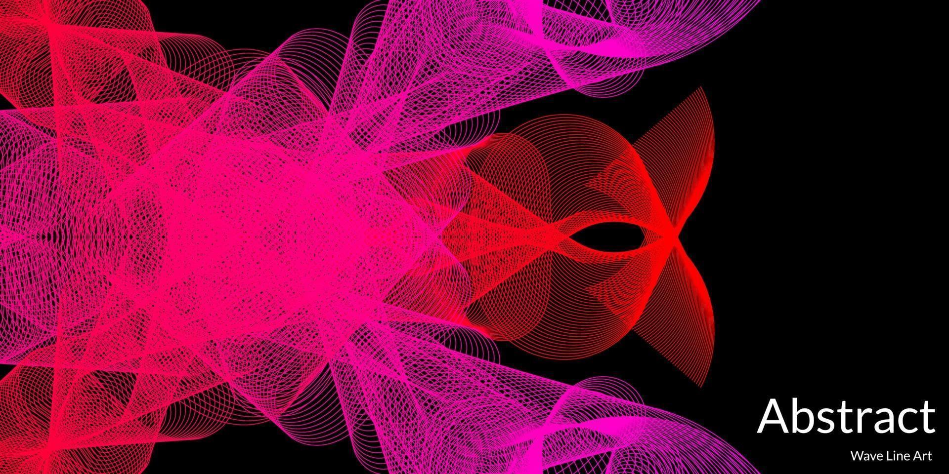 modern abstrakt bakgrund med vågiga linjer i lila och röda graderingar vektor