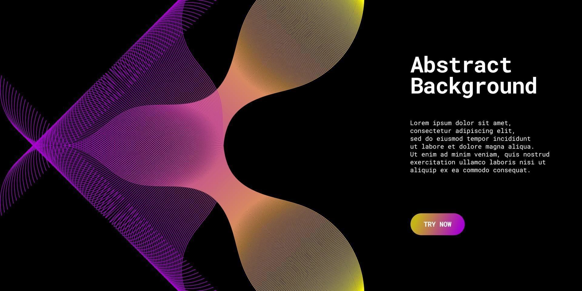 moderner abstrakter Hintergrund mit Wellenlinien in gelben und lila Abstufungen vektor