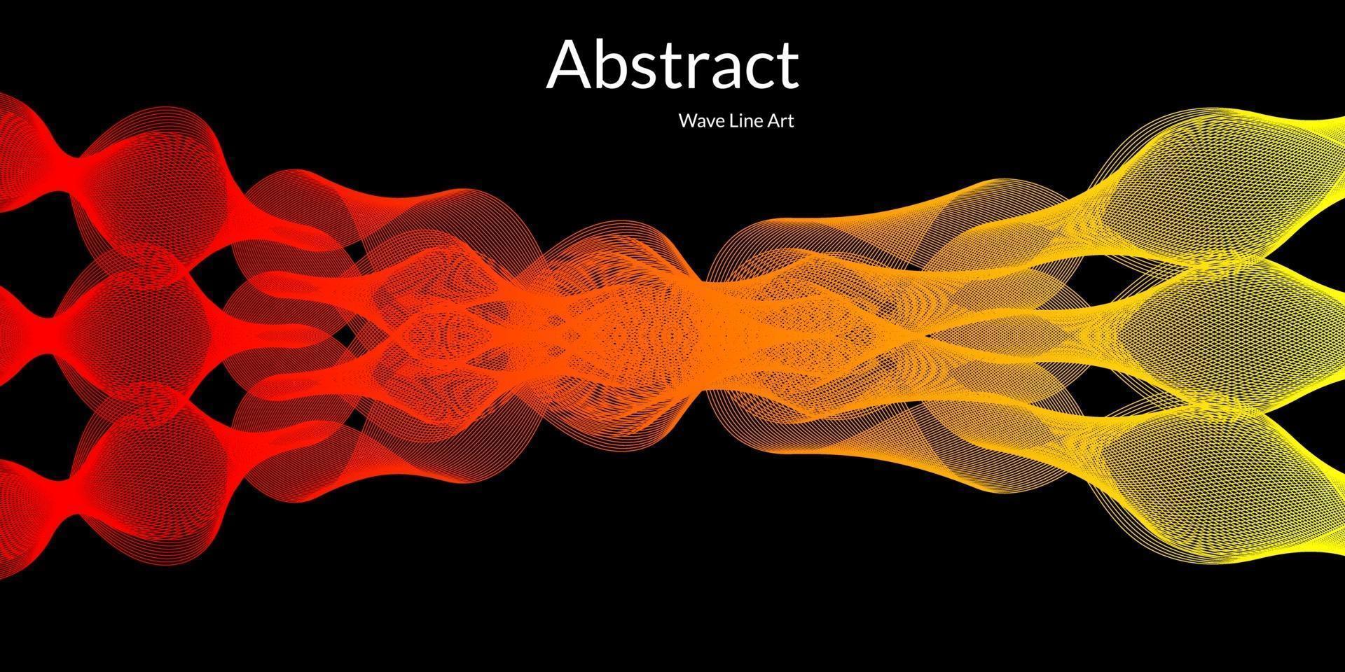moderner abstrakter Hintergrund mit Wellenlinien in roten und gelben Abstufungen vektor