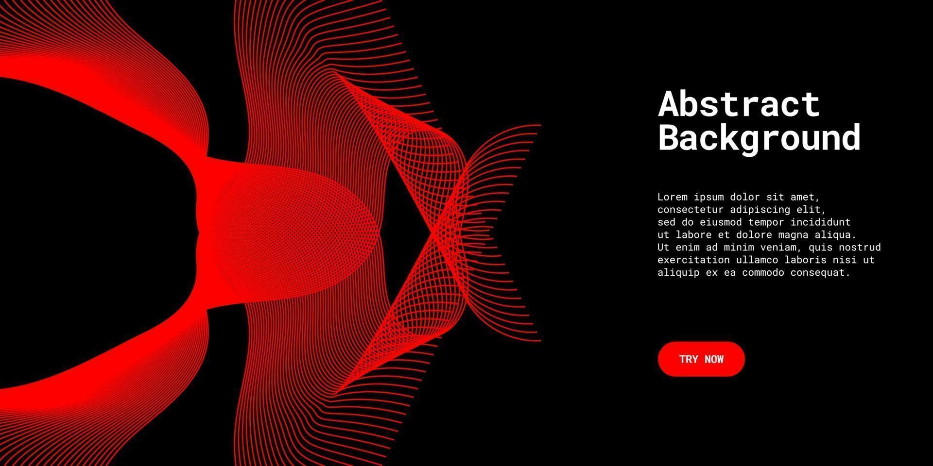 moderner abstrakter Hintergrund mit Wellenlinien in Rot vektor