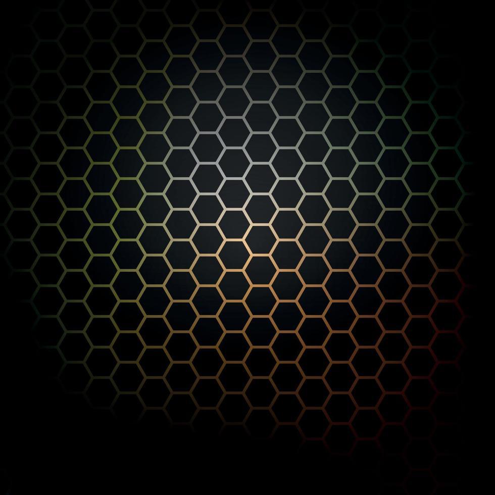 sexkantigt mönster. cirkulär bikaka. vektor