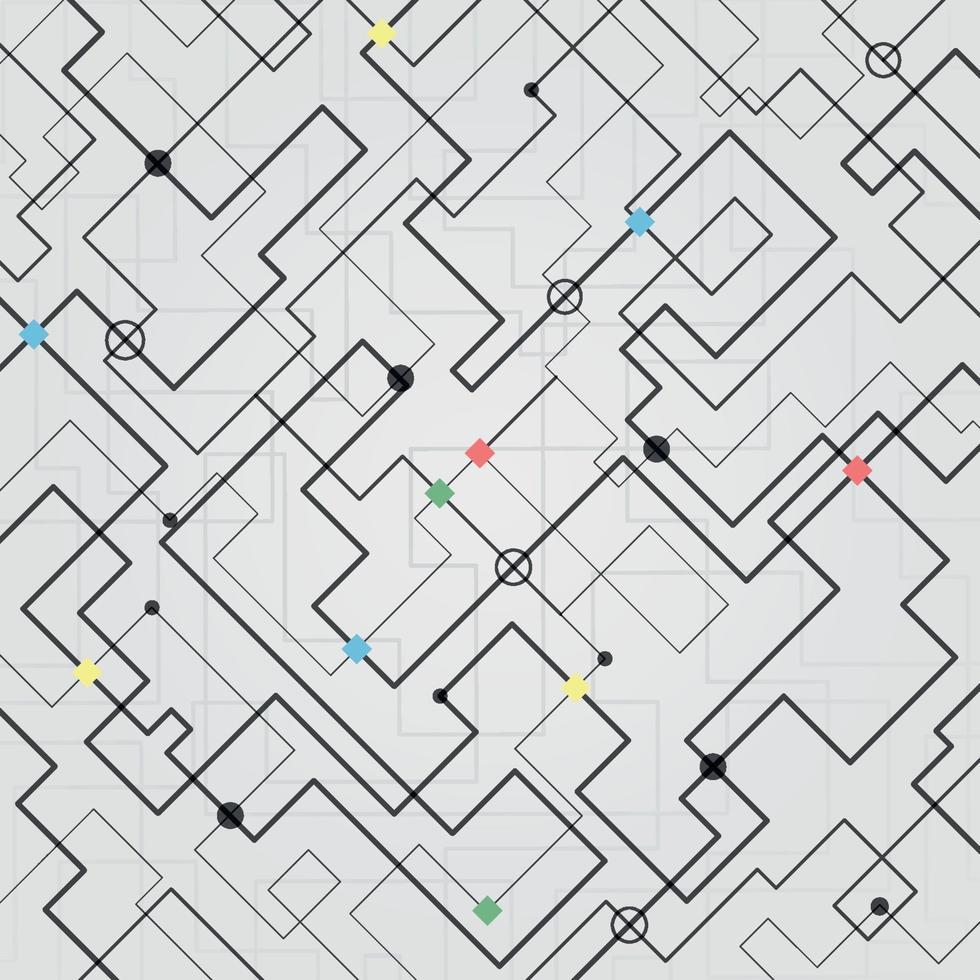 abstrakter technologischer Hintergrund. vektor