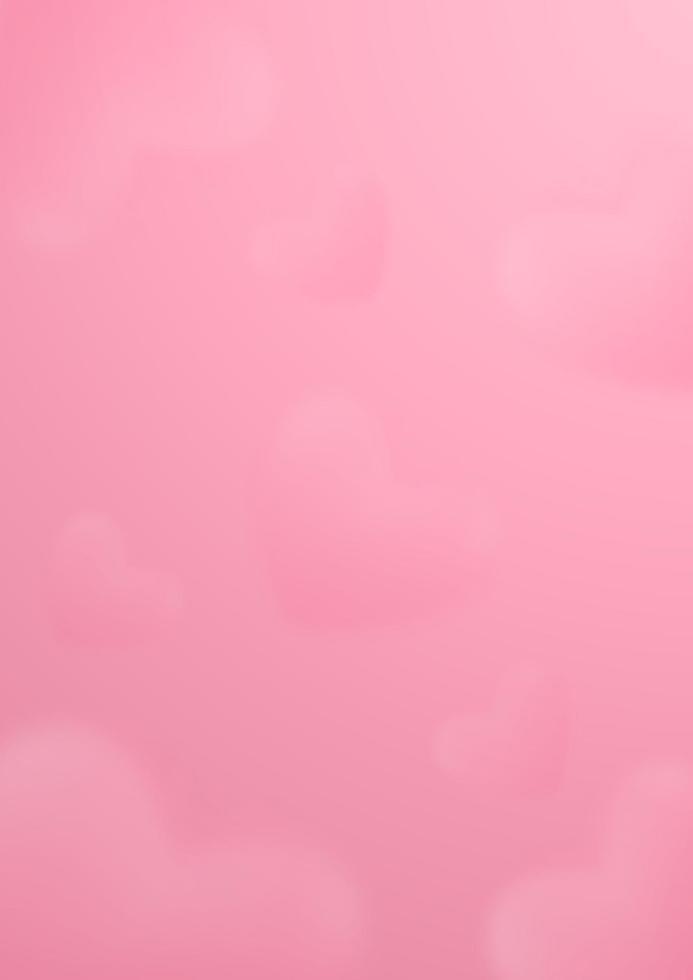 abstrakt modern konst bakgrund med hjärtmoln på rosa. vektor